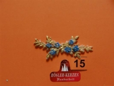1 Wachsornament Ranke gold / blau #15
