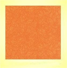 Serviette orange Struktur 33x33