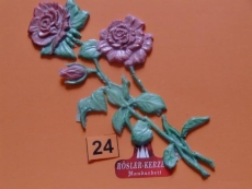 1 Wachsornament - Rose - #24