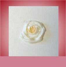 Wachsornament Blüte weiss rose